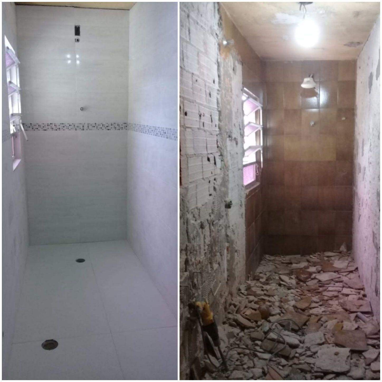 reforma de banheiro antes e depois