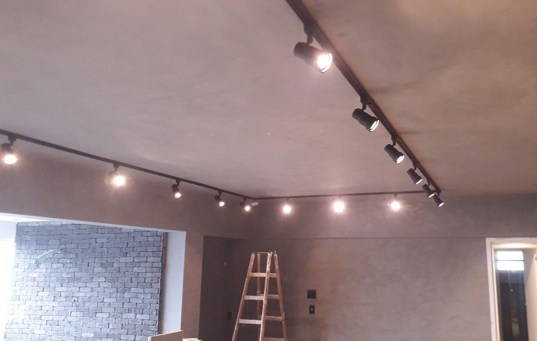 Instalação de Trilhos de iluminação