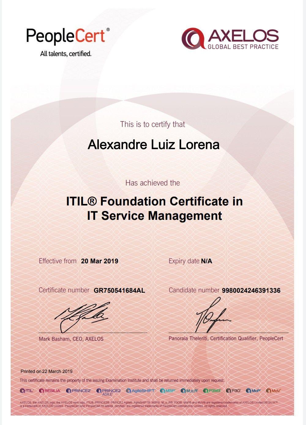 Certificação em Gerenciamento de Serviços de TI
