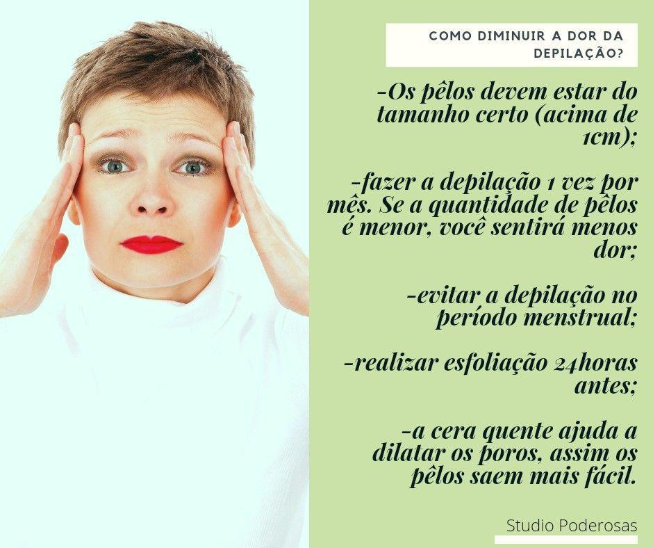 como diminuir a dor da depilação?