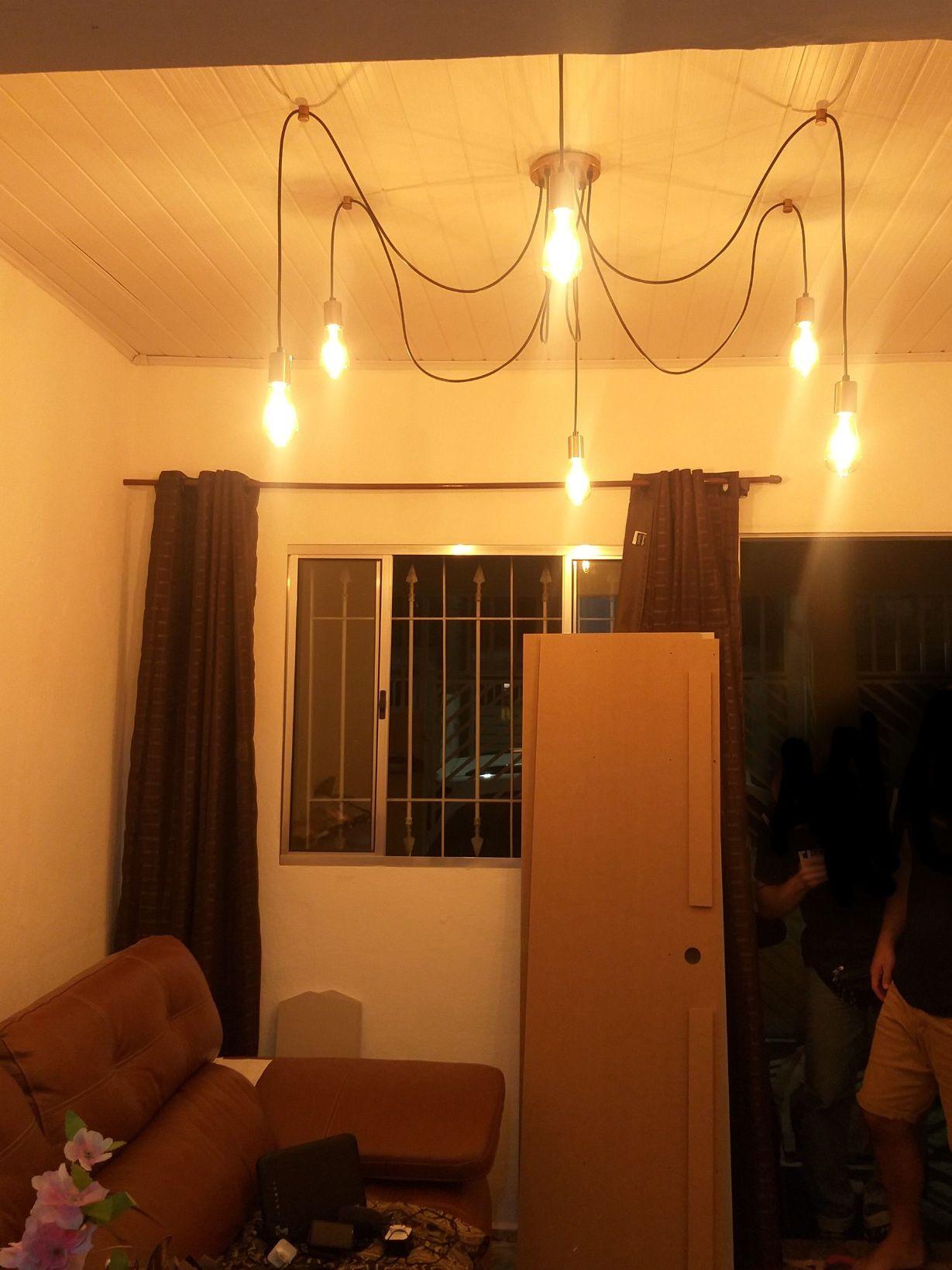 luminária estilo Thomas Edson