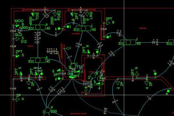 projeto elétrico interno
