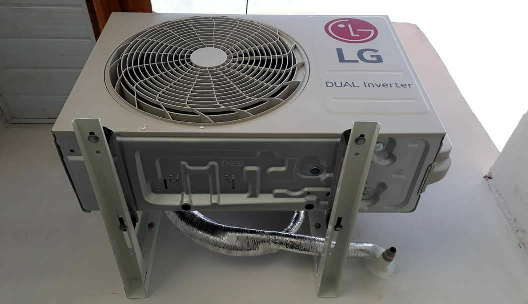 instalação da condensadora