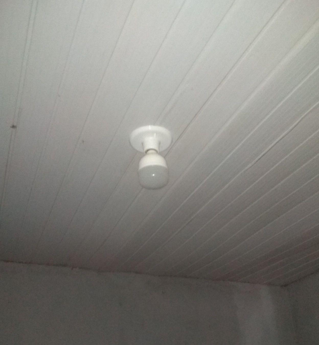 retirada do ventilador de teto e col da lampada