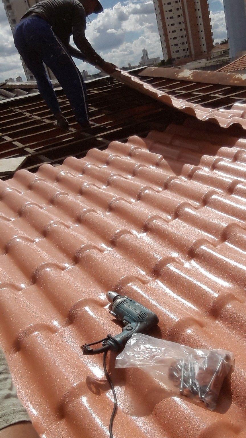 telhado  imitação  de  telha romanas