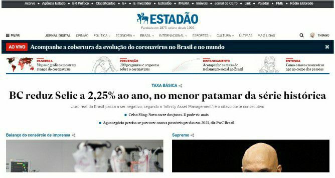 Atuação no Jornal O Estado de S.Paulo