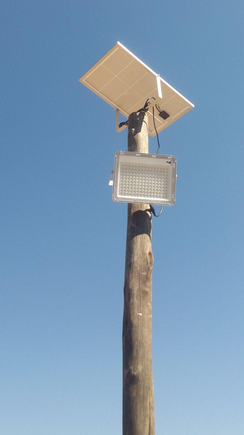 Iluminação solar 200 Watts em chácara