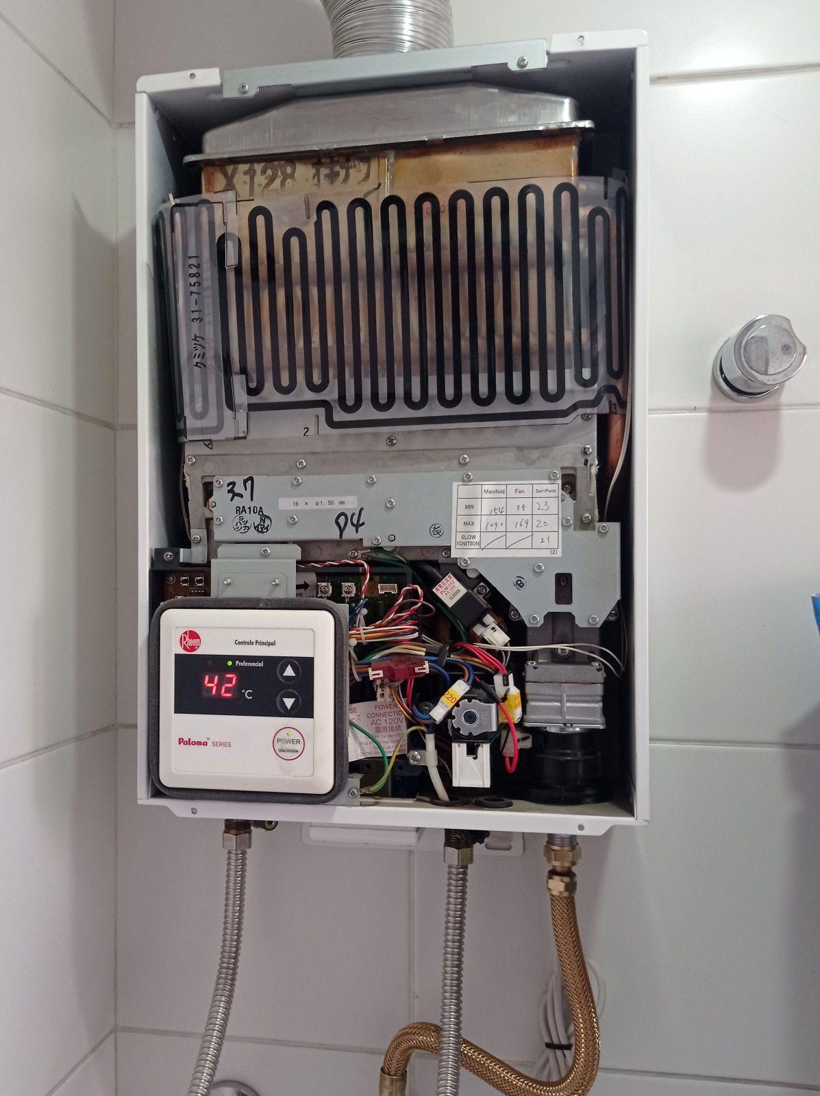 aquecedor boch manutenção preventiva!