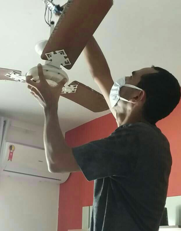 Troncando ventilador de lugar