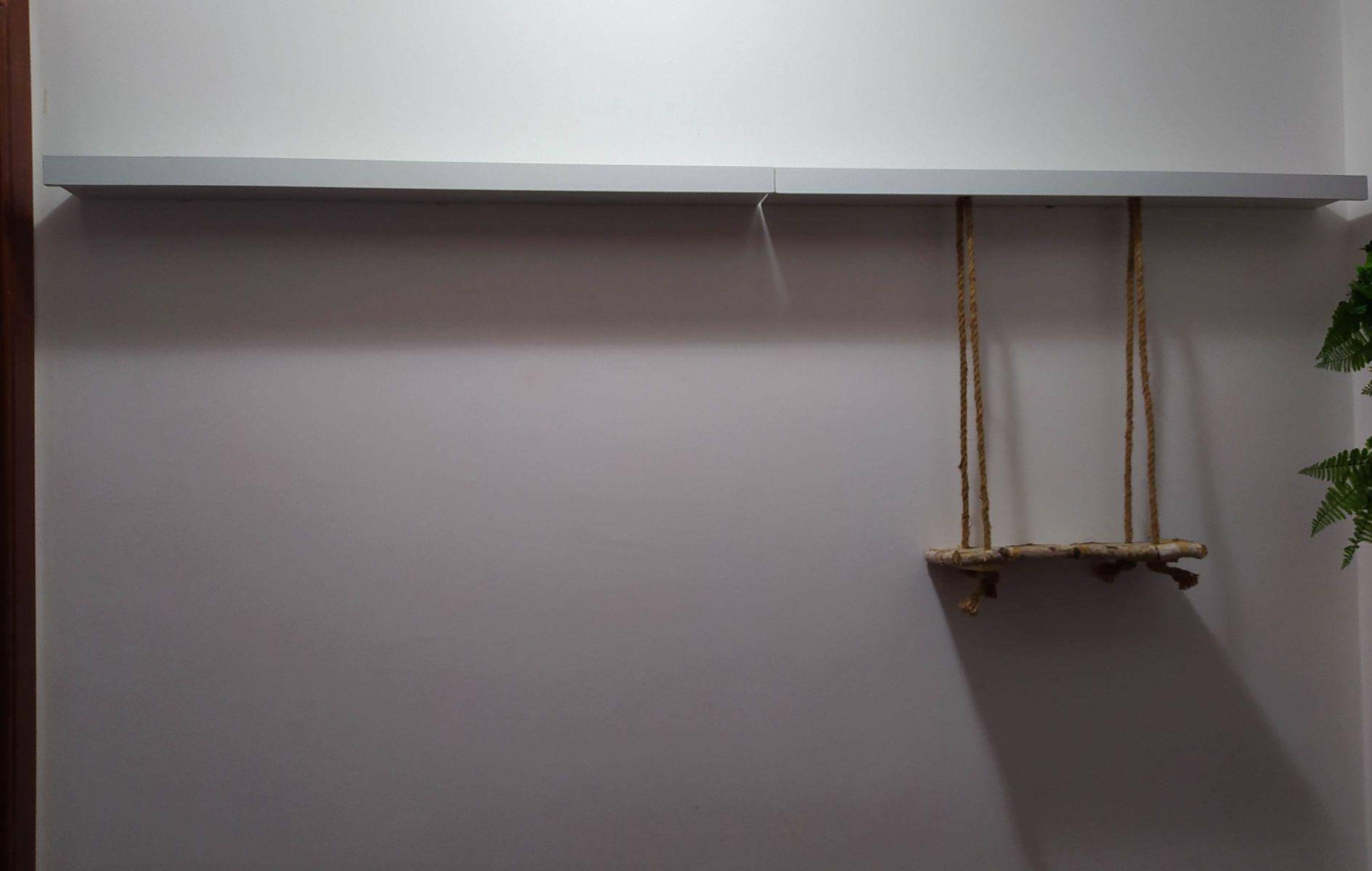 instalação prateleiras, com arranjos de balanço