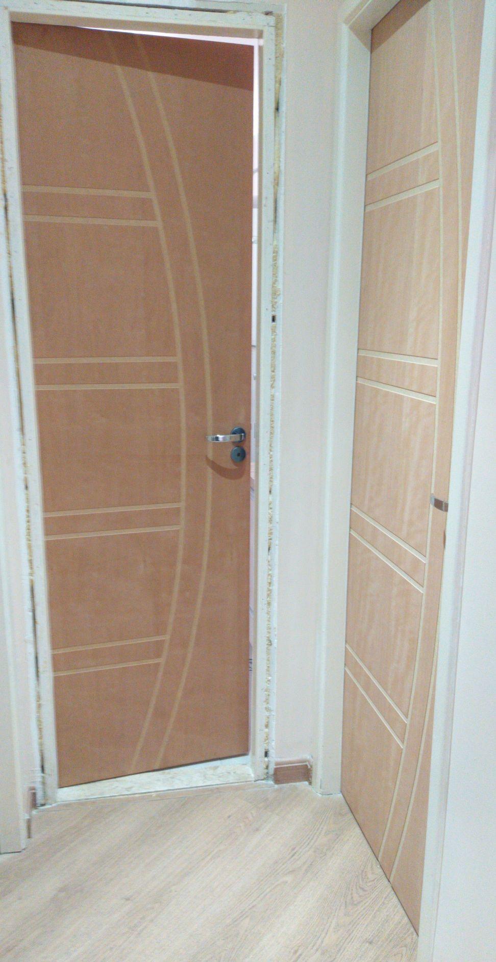 troca porta interna WC e quarto