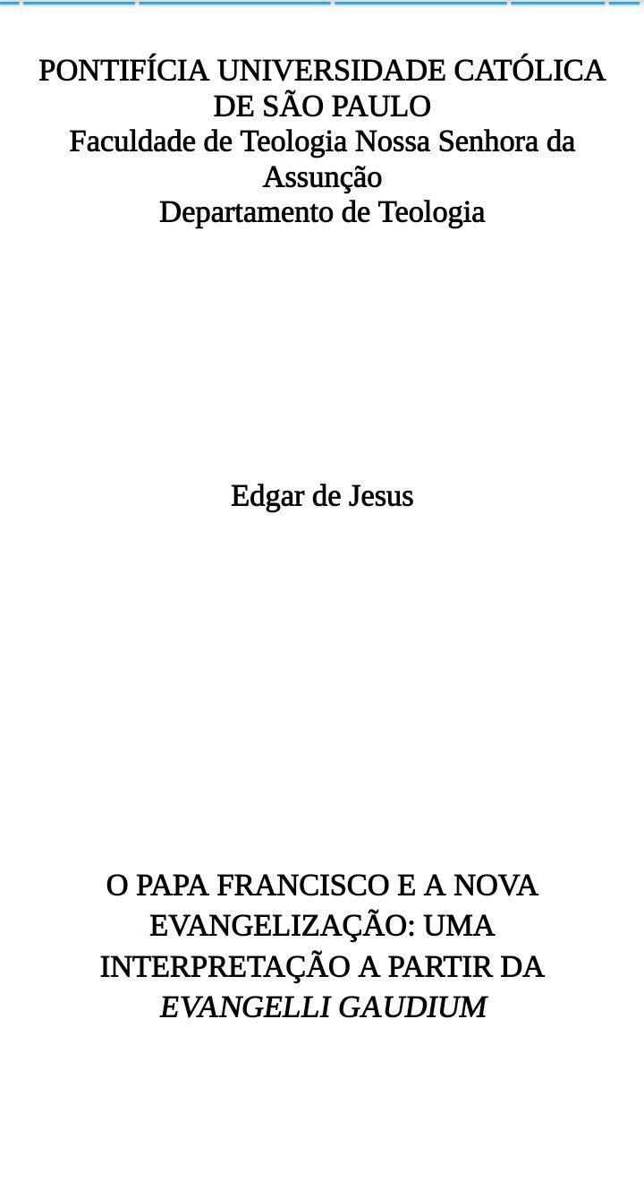 Monografia curso de Teologia - PUC/SP