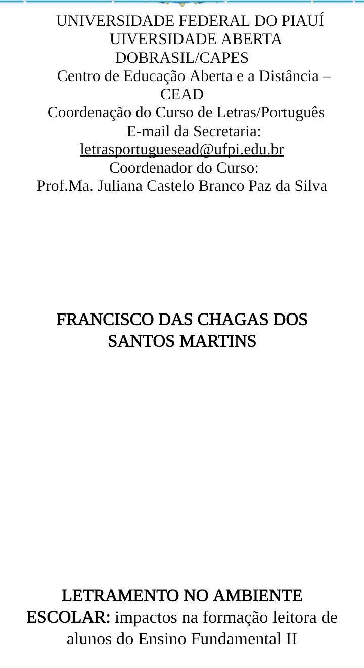 Monografia - TCC curso de Letras Língua Portuguesa