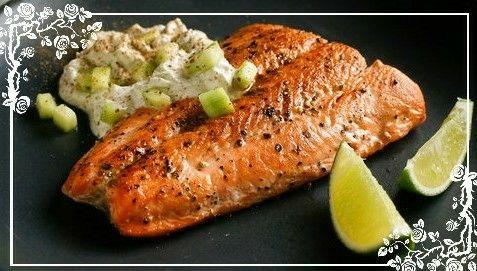 Olha esse salmão!!! Ele pode estar na sua mesa.