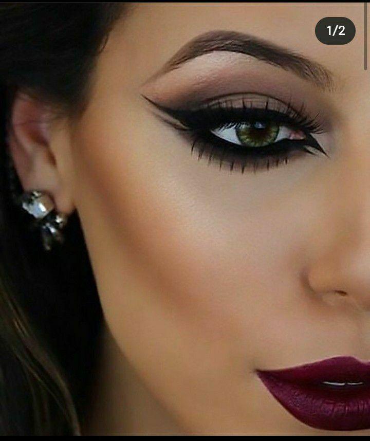 Delineador Clássico Glamour com esfumado marrom