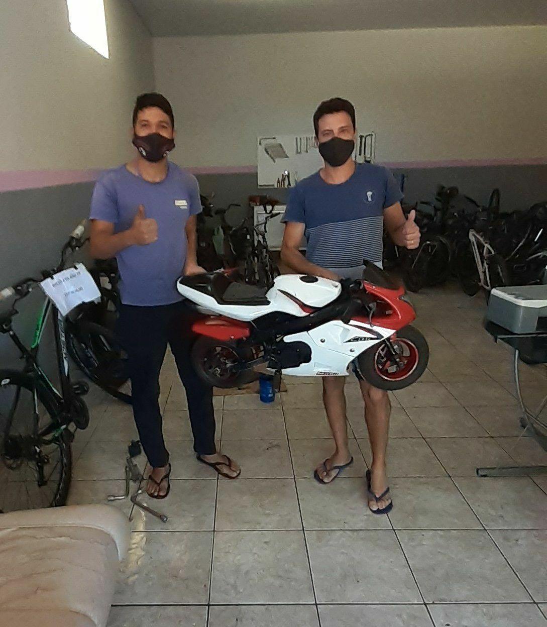 Manutenção na mini moto cliente satisfeito ❤🙌🛠🏍