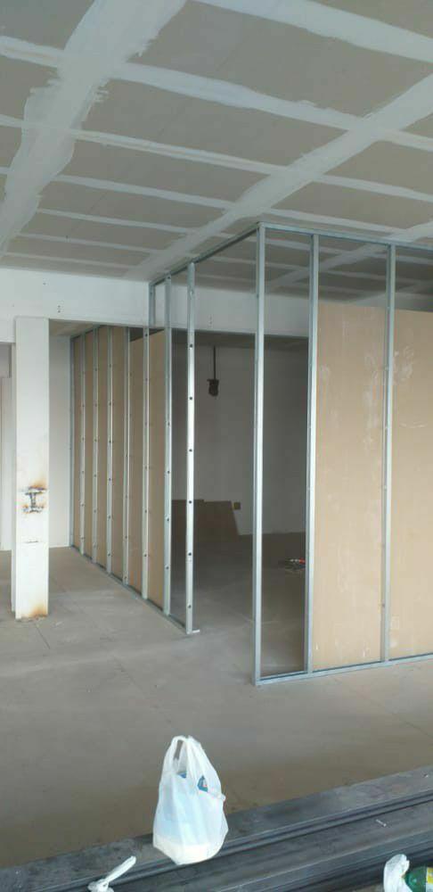 execução de forro e paredes/divisórias em Drywall