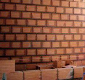 parede de vedação de tijolo baiano