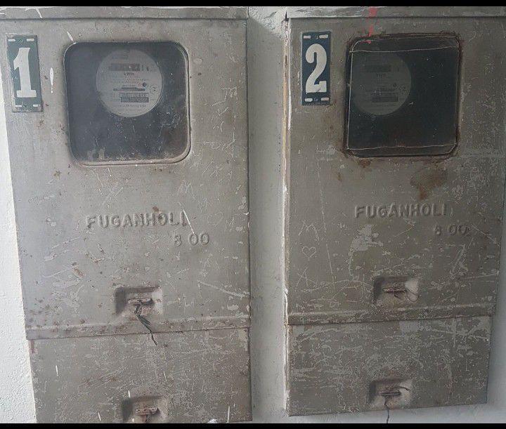 substituição da caixa de entrada de dois medidores