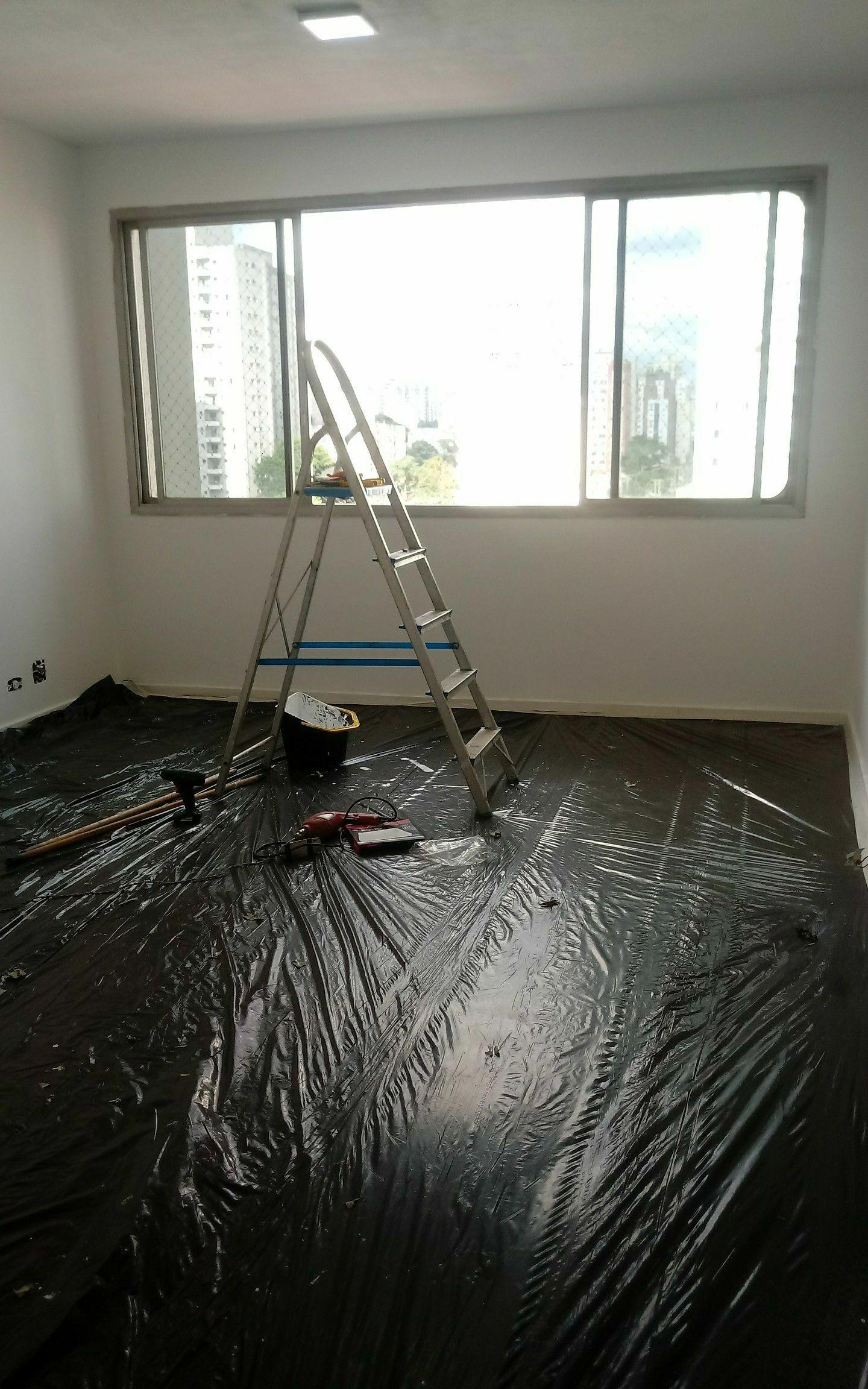 pintura. - sempre preservando os pisos