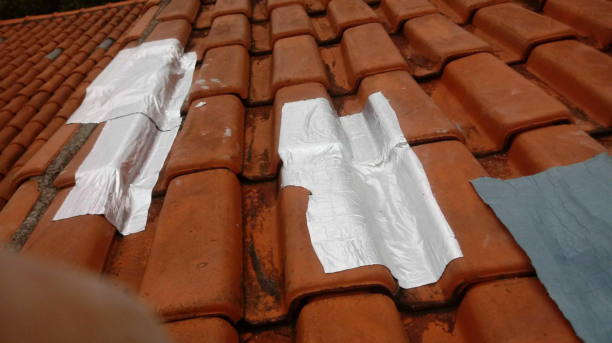 vazamento de telhado