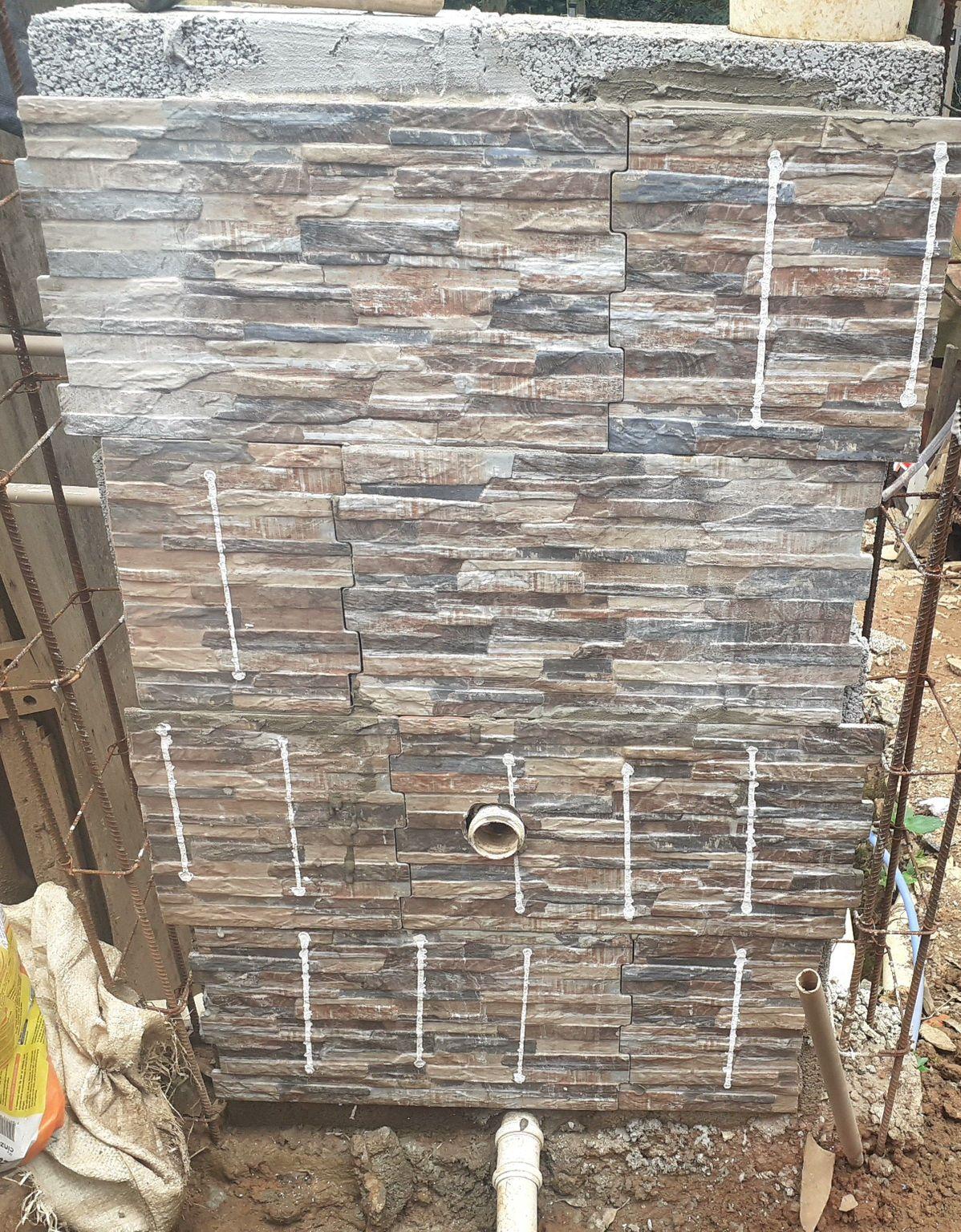 piso para lavanderia uma parede só