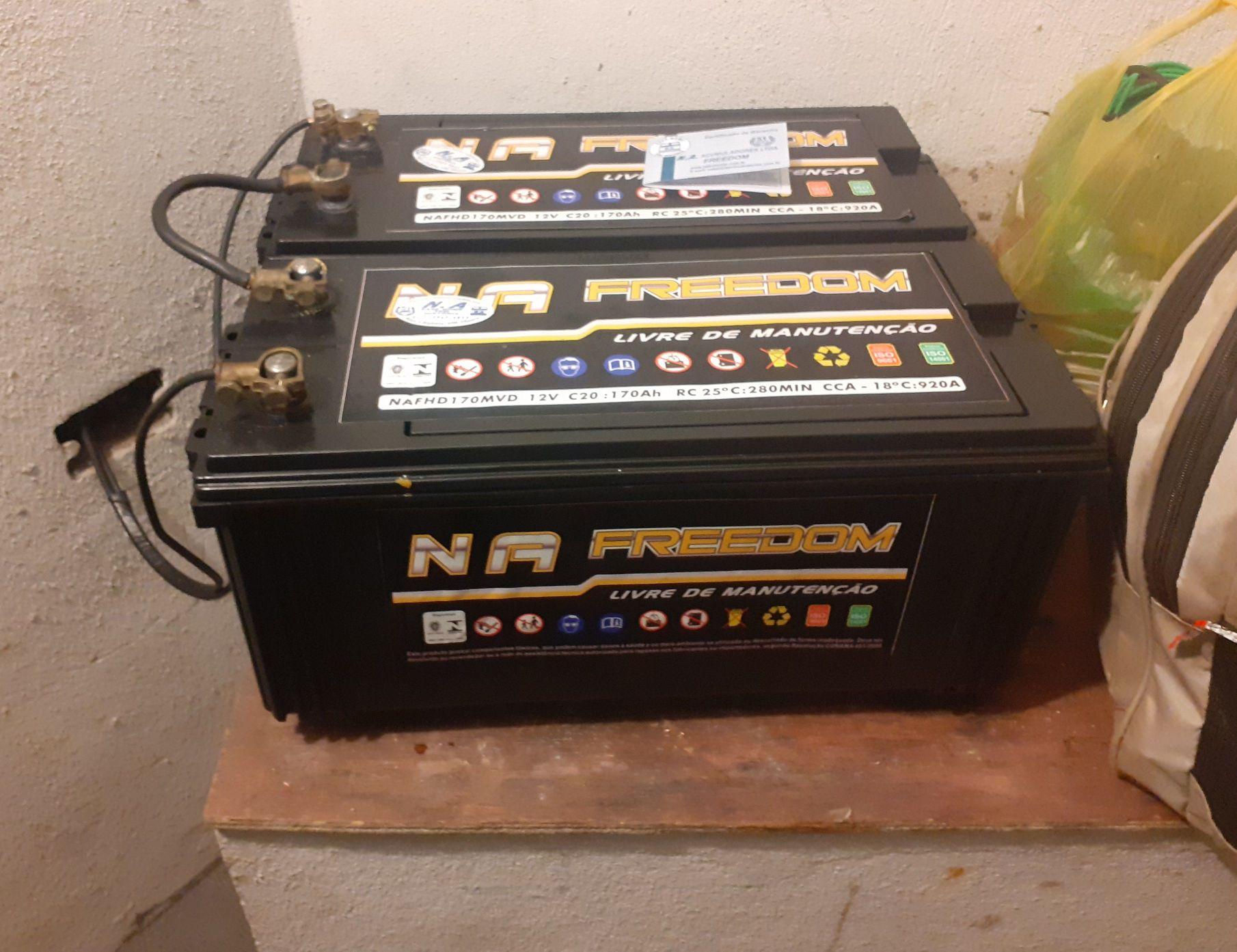instalação de novo par de baterias