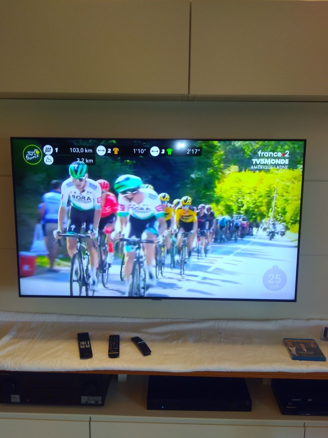 TV 55 no painel