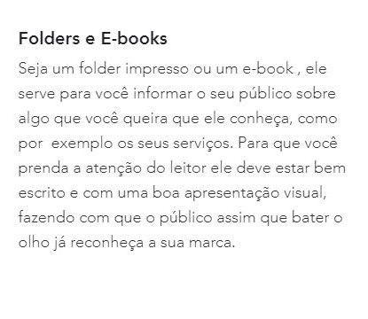 Folders e Ebooks