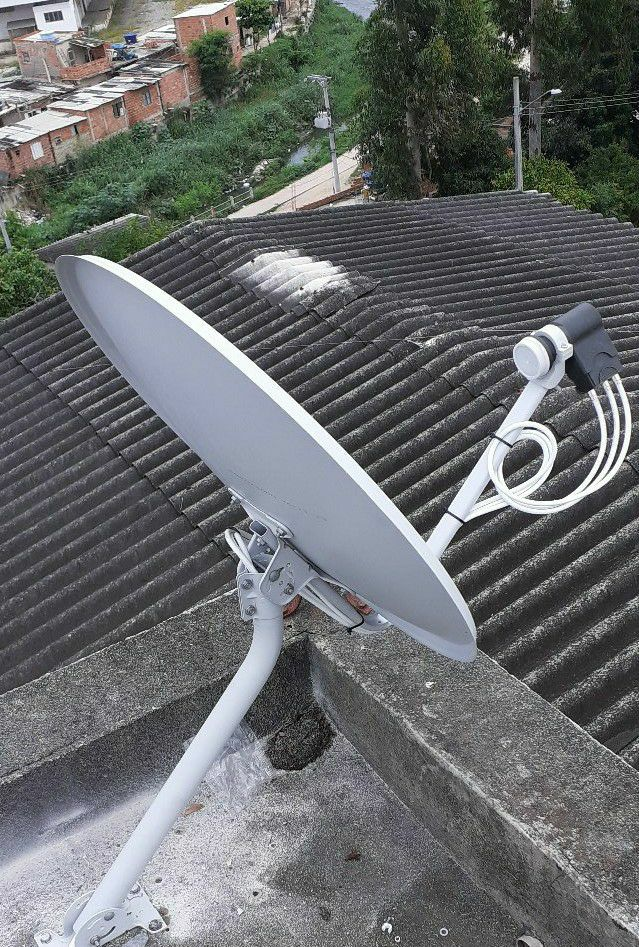 antena com distribuição para 4 pontos