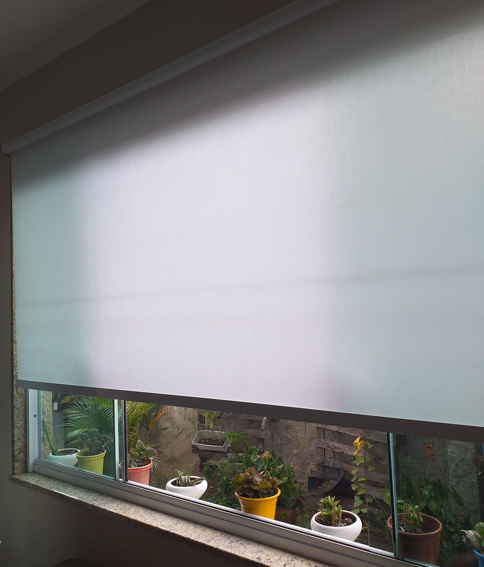 cortinas de rolo na sala