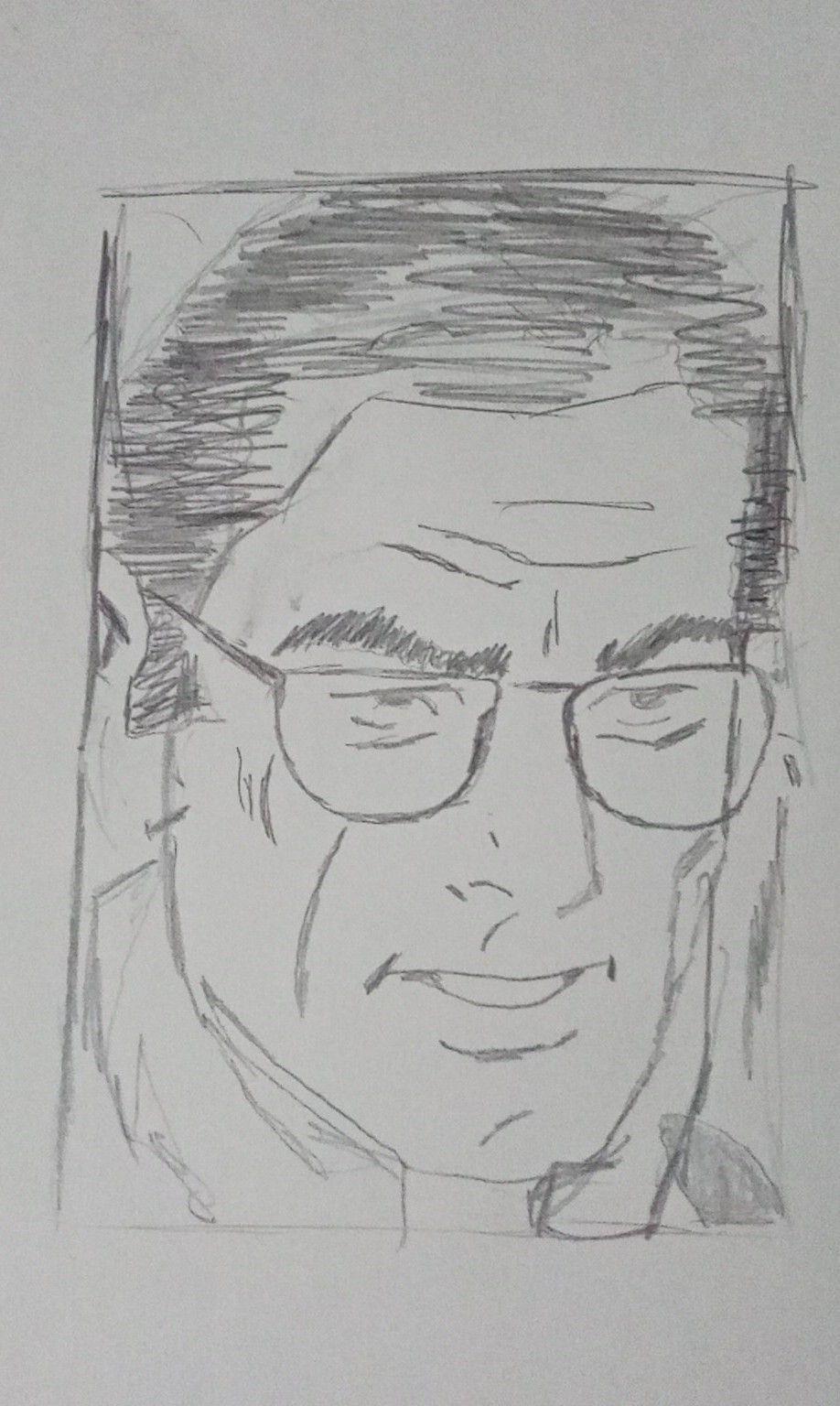 esboço Clark Kent
