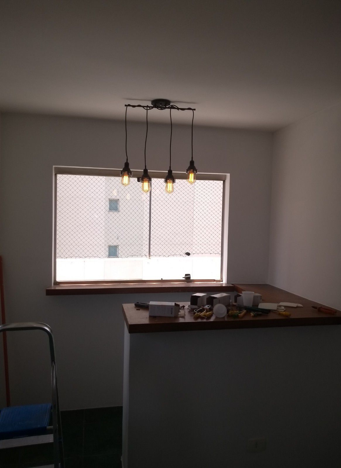 instalação luminárias