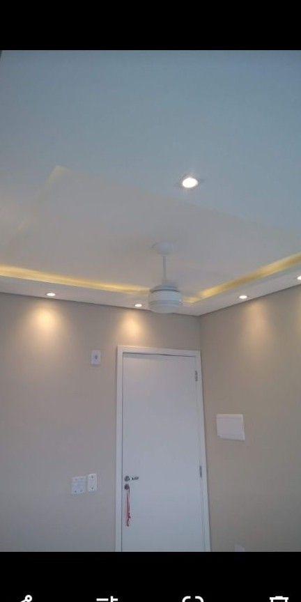 forro de drywall com iluminação