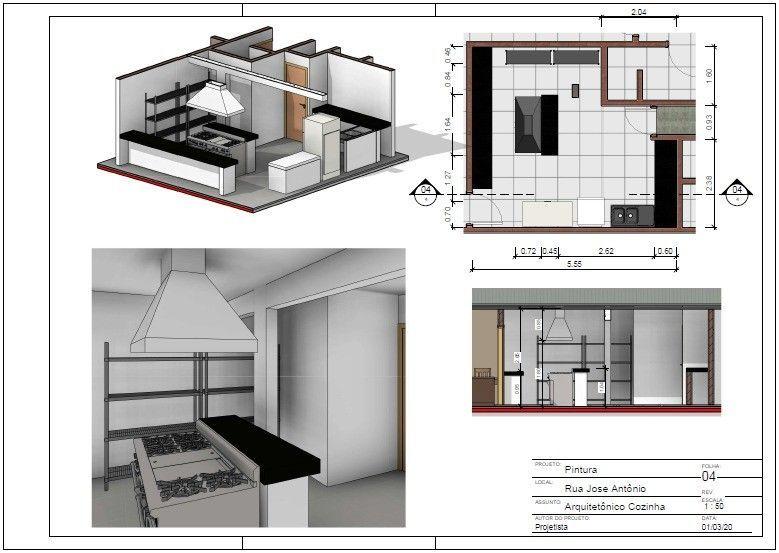 Projeto cozinha restaurante (reforma)