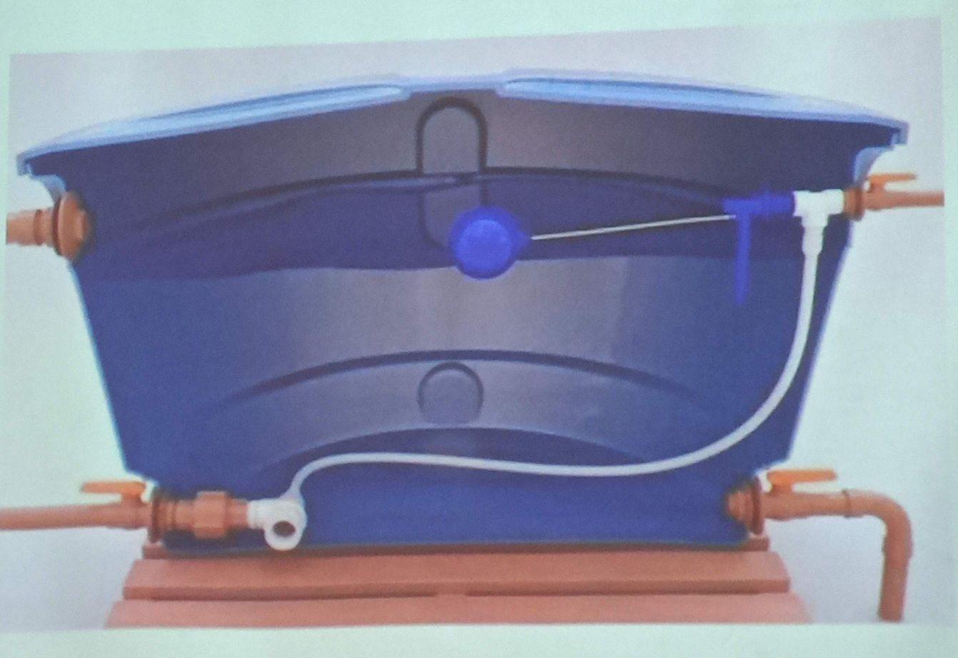 instalação caixa de água
