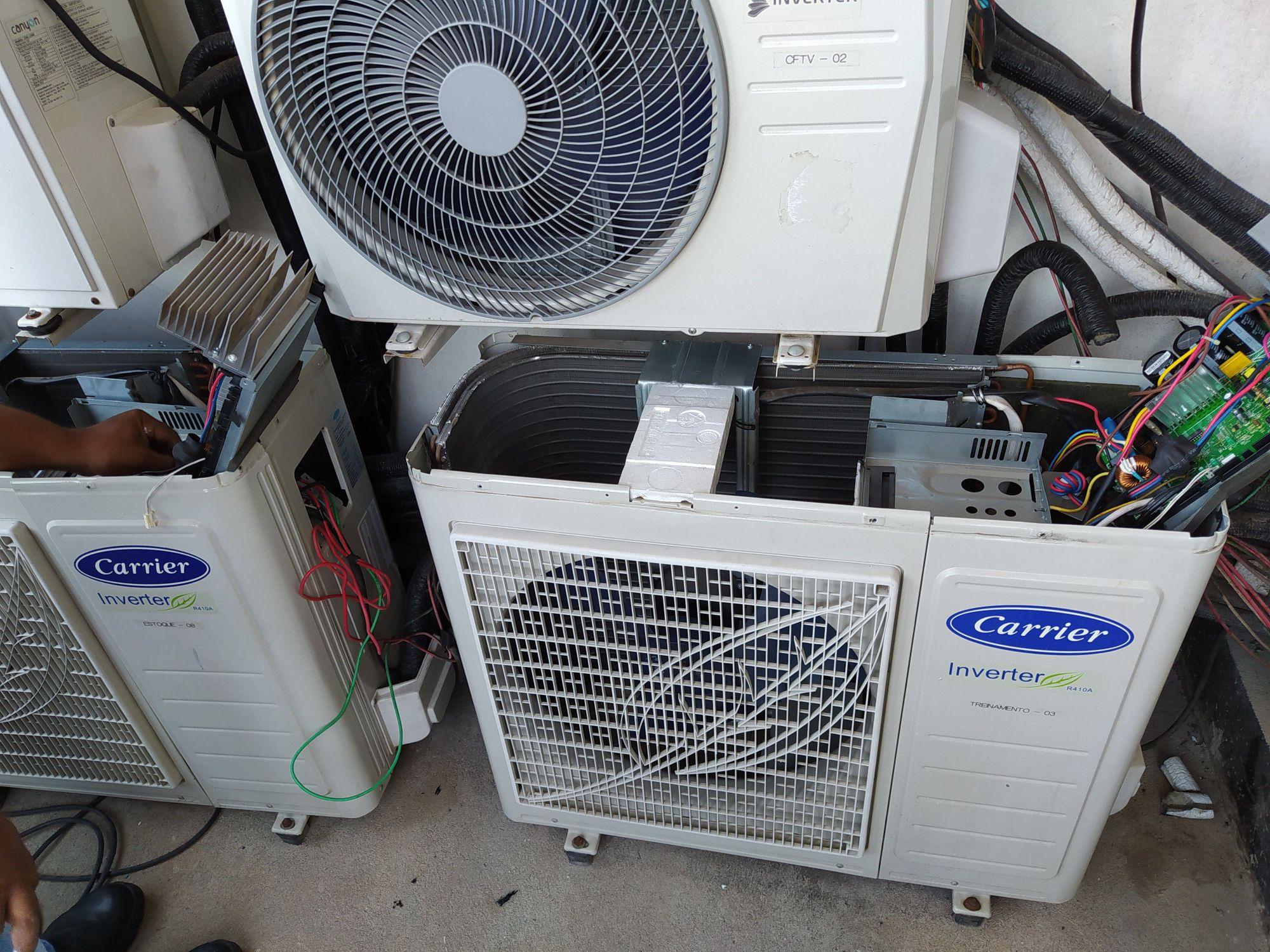 Análise da placa principal Inverter Carrier.