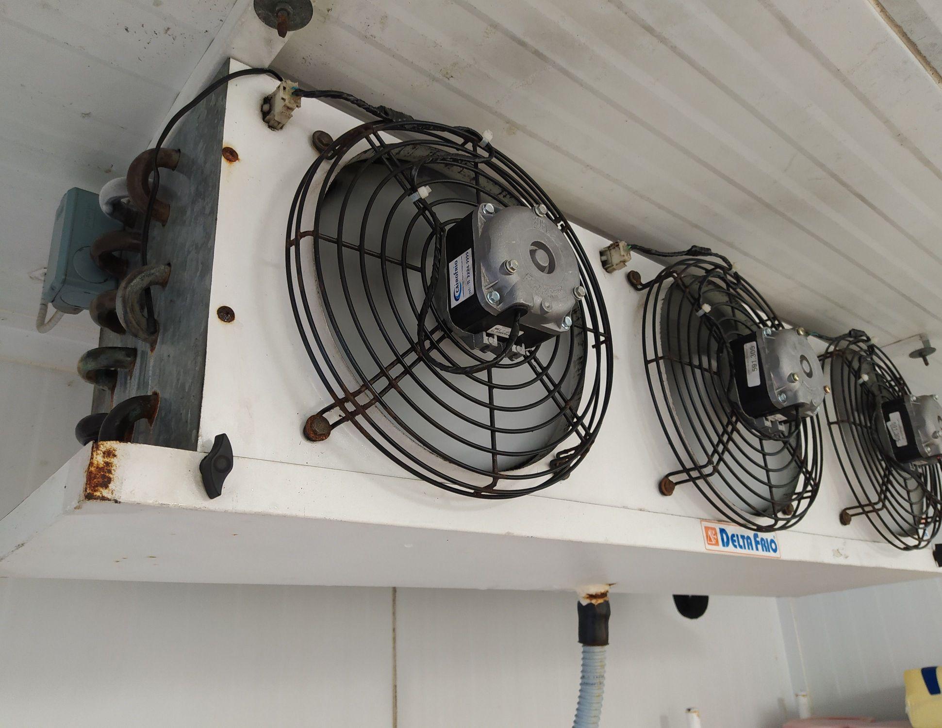 Troca de motores dos ventiladores em câmara resfri