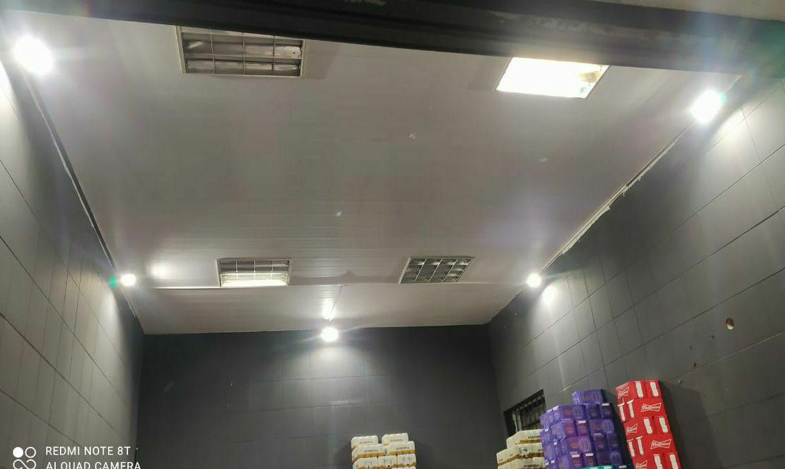 Refletores led instalados