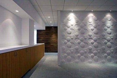 reforma de escritório e elétrica com painel 3D