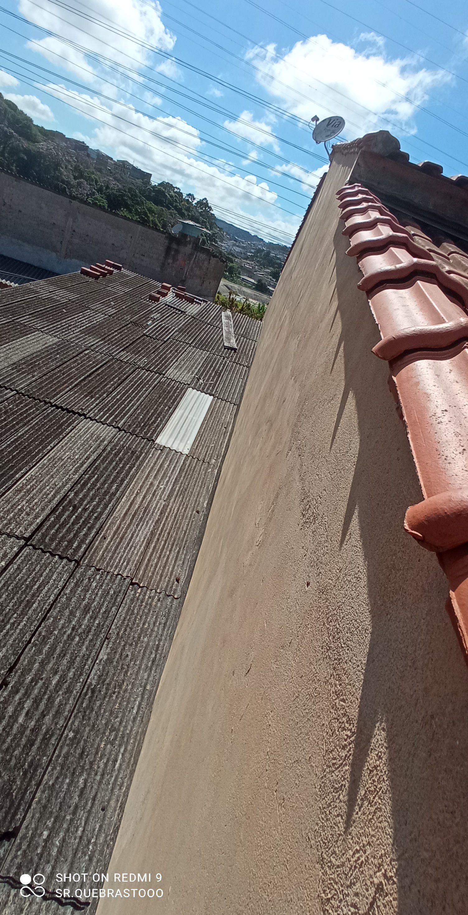 Paredão da parte de cima do telhado