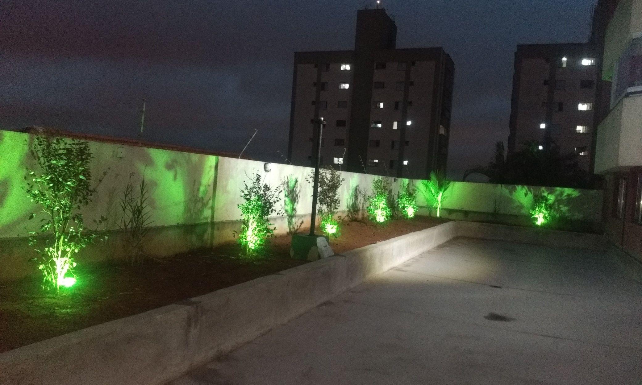iluminação de jardin