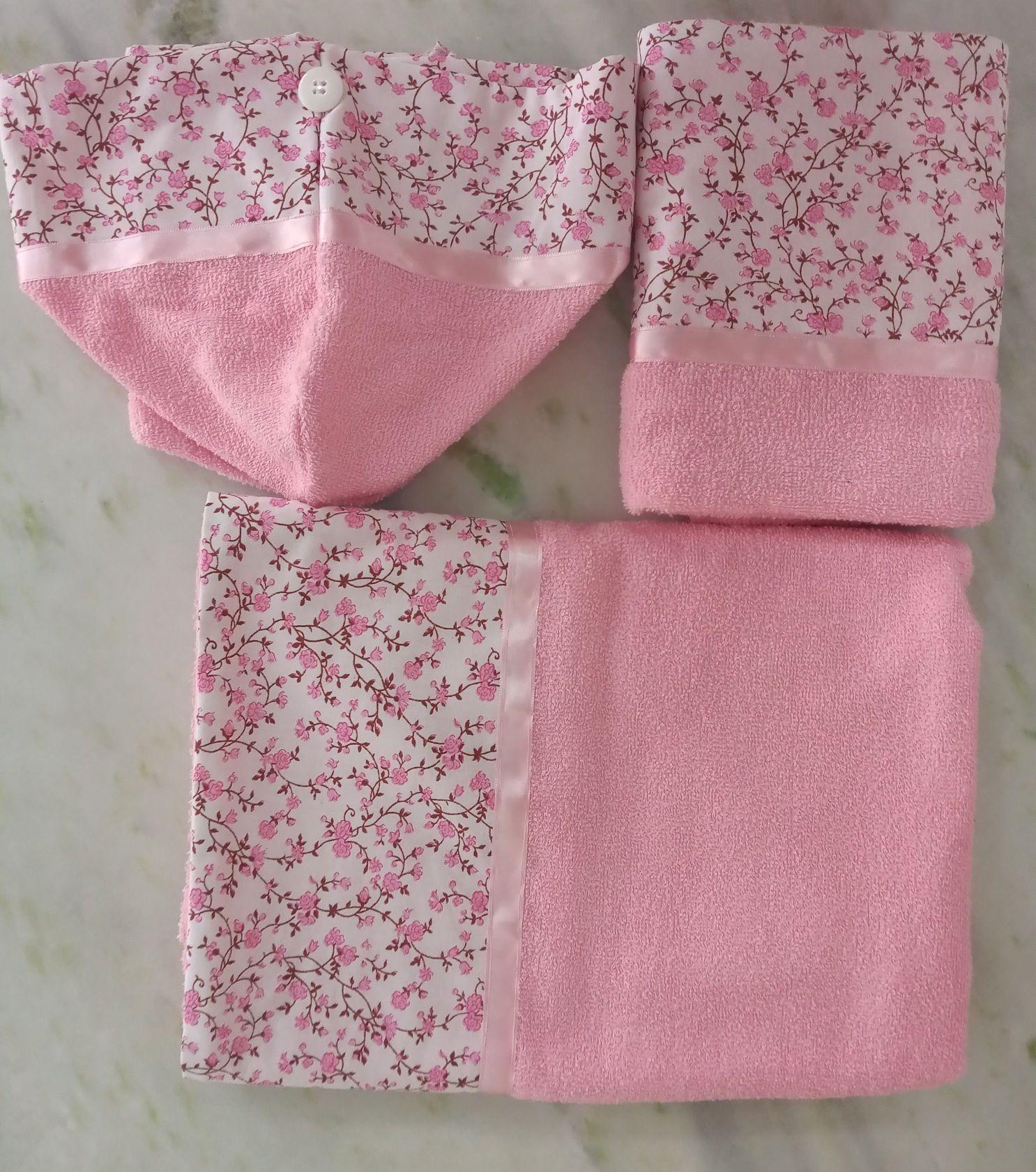toalhas de: banho 75 x 144 rosto 50 x 86 cabelo