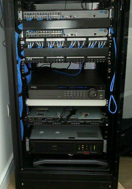 Rack de CFTV, Controle de acesso e Alarme