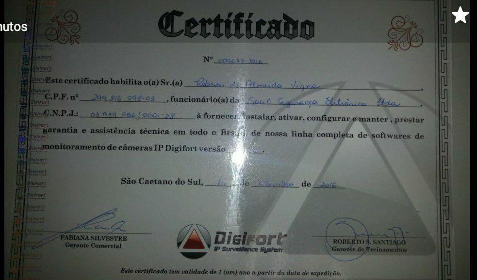 Certificado Digifort