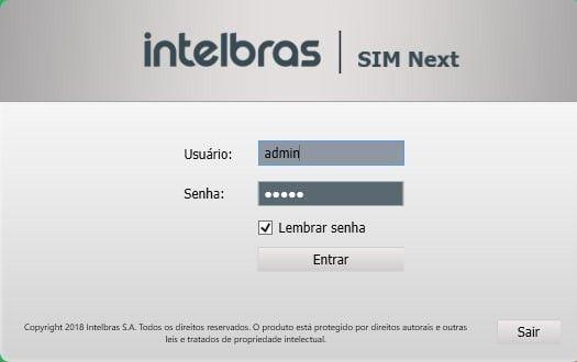 Sistema Intelbras de Monitoria SIM NEXT