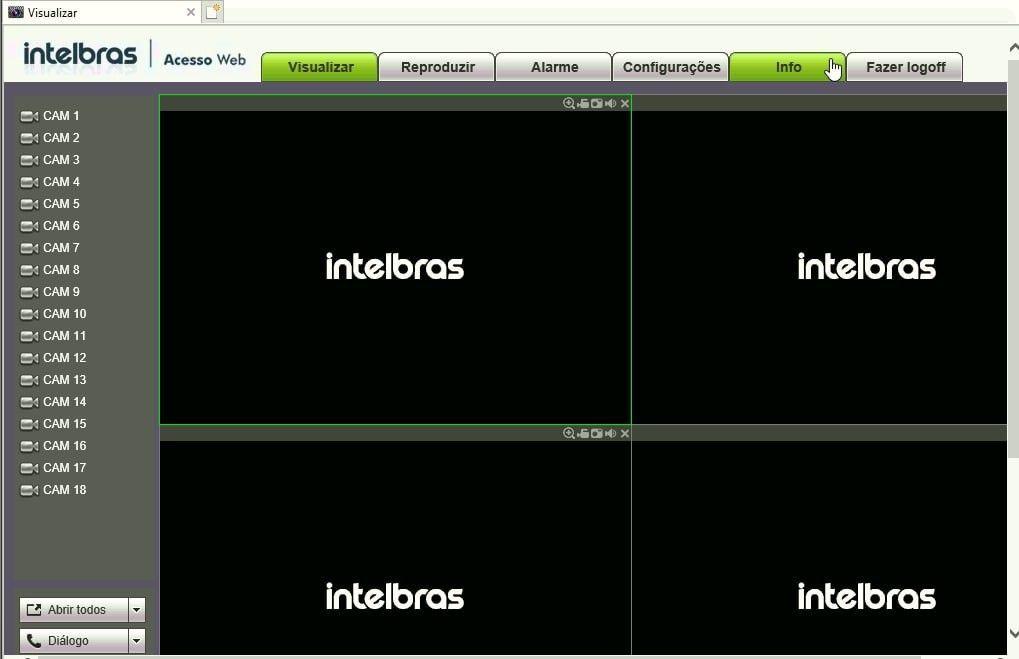 Visualização WEB do sistema de monitoria
