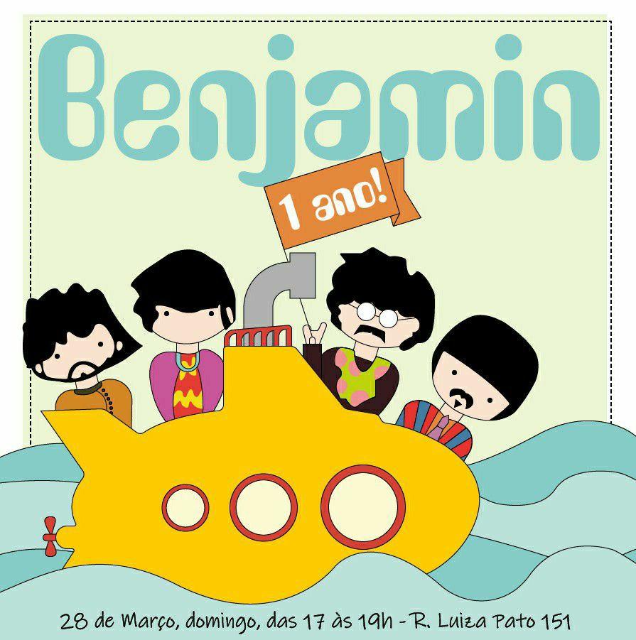 Convite Virtual de Aniversário - Tema: The Beatles