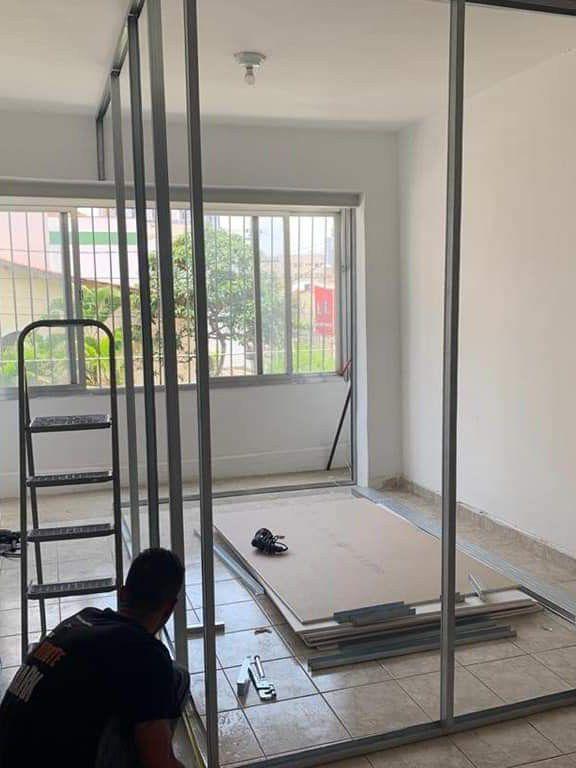 quarto feito com drywall