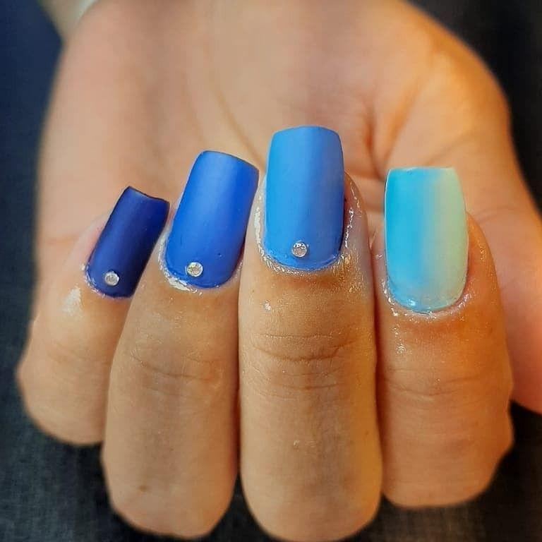 degradê de azul